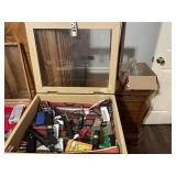 Shadowbox with knives and other content