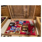 Shadowbox with hot wheels and matchbox