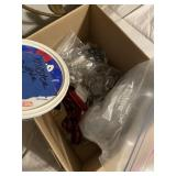 Box of drawer pullers and miscellaneous