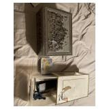 Decorative tin boxes and storage container
