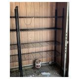 5 shelf metal storage rack