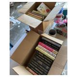 Two boxes of books