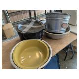 Metal pans and tubs