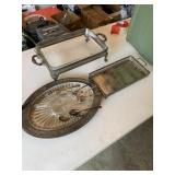 Silver silver/silver plated serving trays