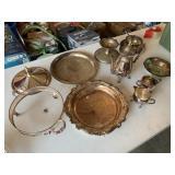 Metal/brass looking tableware