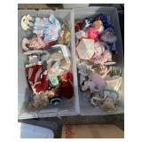 Two boxes of dolls