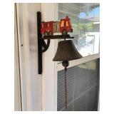 Fire truck cast iron bell