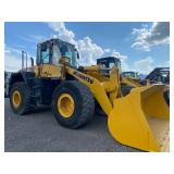 KOMATSU WA400 ARTICULATED WHEEL LOADER, C/H/A, SHOWING 21,597 HRS, S/N# 40098