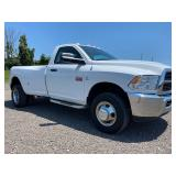 2012 DODGE 3500 RAM, 4WD, SINGLE CAB, AUTO TRANS, 154,399 MILES, VIN #3C63DRAL41648