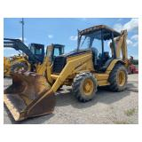 CAT 420D BACKHOE, 4WD, OROPS, SHOWING 3513 HRS, S/N FDP00419