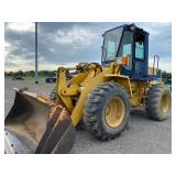 KOMATSU WA180 ARTICULATED WHEEL LOADER, SHOWING 5741 HRS, S/N # A753018
