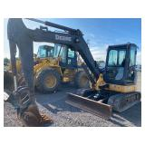 JOHN DEERE 60D EXCAVATOR, C/H/A,  C/H/A, FRONT BLADE, SHOWING 2181 HRS, S/N# 1FF060DXVCG281