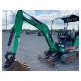 BOBCAT 324 EXCAVATOR, OROPS, FRONT BLADE, AUX HYD., EXPANDABLE TRACKS, SHOWING 1730 HRS, S# AKY51940