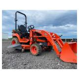 "KUBOTA BX2670 COMPACT TRACTOR, 4WD, LOADER, 3PT HITCH, PTO, 60"" BELLY MOWER, SHOWING 267 HRS"