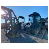 CAT 299D2 XHP FORESTRY PACKAGE TRACK SKID STEER, W/ MULCHING HEAD,  SHOWING 4208 HRS