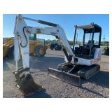 BOBCAT 331 MINI EXCAVATOR, OROPS, AUX HYDRAULICS, FRONT BLADE, SHOWING 4060 HRS, S/N# NOT AVALIABLE