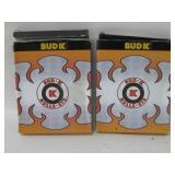 Two NIOB Bud K Throwing Stars W/Cases