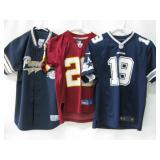 Three Youths S, M, L Assorted Jerseys As Shown