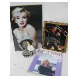 Marilyn Monroe Collection W/Elvis Print On Wood