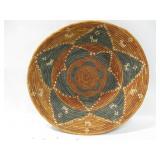 "17"" Diameter Tribal Style Coil Basket"