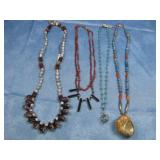 Four Assorted SW Vintage Beaded Necklaces