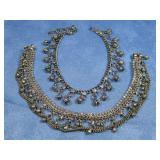 Two Silver Tone Belly Dancer Bell Anklets