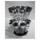"10.5""x 11.5"" Glass Spice Bottles In Spinning Rack"