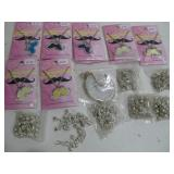 Assorted New Mustache Necklaces & Bell Anklets