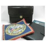 Army Pillow & Two Brief Cases & Bank Bag