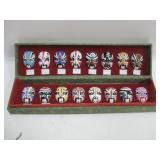 """10""""x 3""""x 1.5"""" Case Of Miniature Clay Asian Masks"""