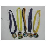 Five ABQ Balloon Fiesta Medals On Ribbons