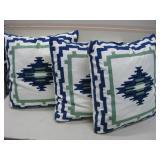 """Three New Sabira Zippered Pillows 20""""x 20"""""""