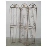 """54""""x 74"""" Three Panel Rustic Iron Screen"""