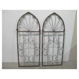 """Two 21.5""""x 53"""" Rustic Iron Grates"""