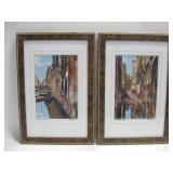 "Pair 13""x 19"" Framed Signed Enhanced Photographs"