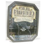 "17.5""x 21.5"" Framed Old Breed Beer Mirror Sign"