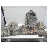 Assorted Camo Hunting Gear W/Back Pack Mossy Oak