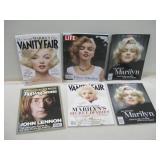 6 Assorted Marilyn Monroe / John Lennon Magazines