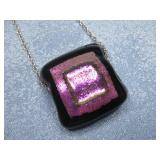 Sterling Silver Chain W/Dichroic Glass See Info