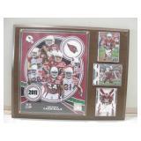 "15""x 12"" Arizona Cardinals Football Plaque"