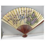 """42""""x 29"""" Paper & Wood Asian Style Fan Decor"""