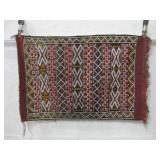 """25""""x 38"""" Woven Floor Rug Some Wear To Edges"""