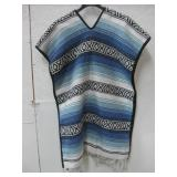 Southwest Blanket Style Cloth Poncho Size Unknown