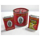 Three Vintage Prince Albert Tobacco Tins