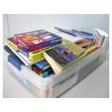 Bin Of Assorted Books Pictured