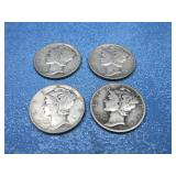 Four Mercury Head Dimes See Info