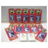 Assorted NIP Baseball Cards & Pins 1991 & 1993