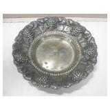 "11"" Diameter Vintage Silver Plate Platter"