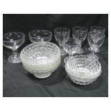 "Assorted Vintage Bubble Glassware Tallest 4"""