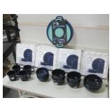 Four New Boxes & All Shown Blue Fiesta Dishes